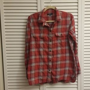 Lightweight Madewell Plaid Shirt